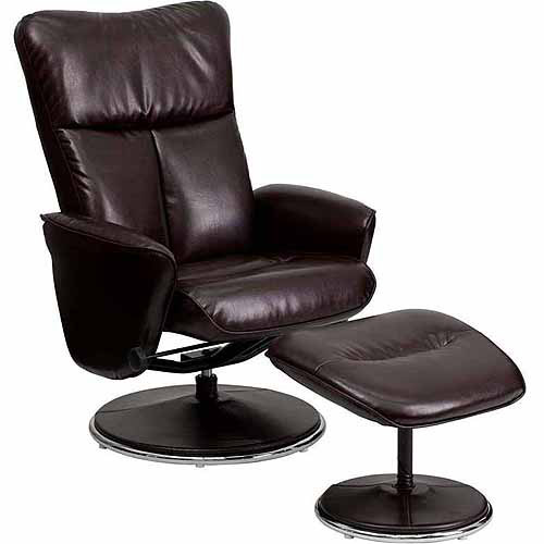 Contemporary Leather Recliner And Ottoma - Walmart.com
