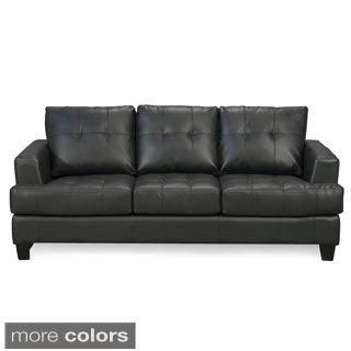 Shop Coaster Company Samuel Contemporary Bonded Leather Sofa - Free
