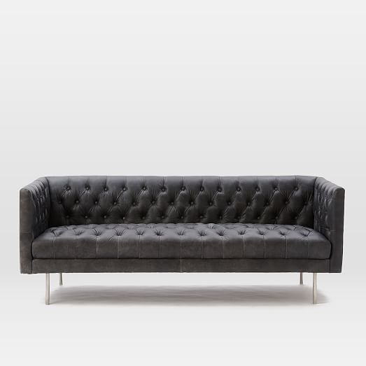 A contemporary leather sofa is a   beautiful design for your home interior décor