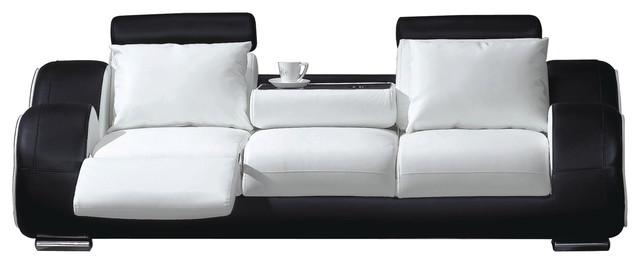 Contemporary Sofa, White and Black - Contemporary - Sofas - by