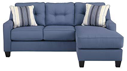 Amazon.com: Benchcraft - Aldie Nuvella Contemporary Sofa Chaise