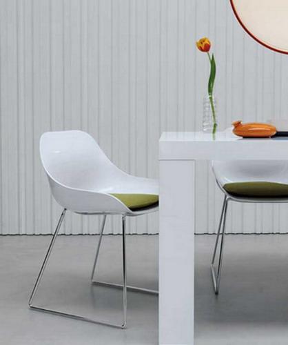White Modern Dining Chairs - Thetastingroomnyc.com