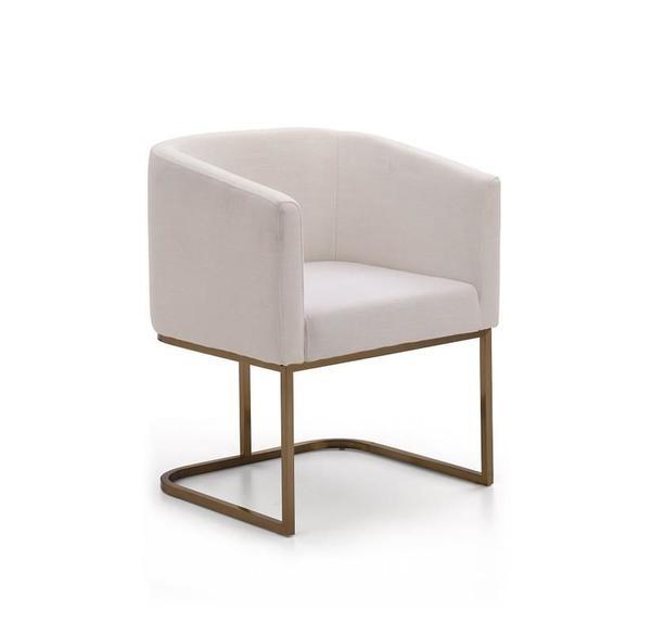 Vig Furniture VGVCB8362-WHTBRS Modrest Yukon Modern White & Antique