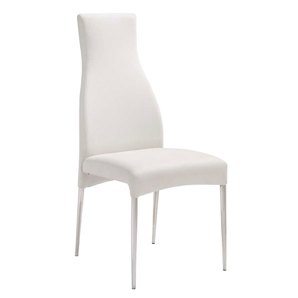 Modern Dining Chairs | Cato White Dining Chair | Eurway