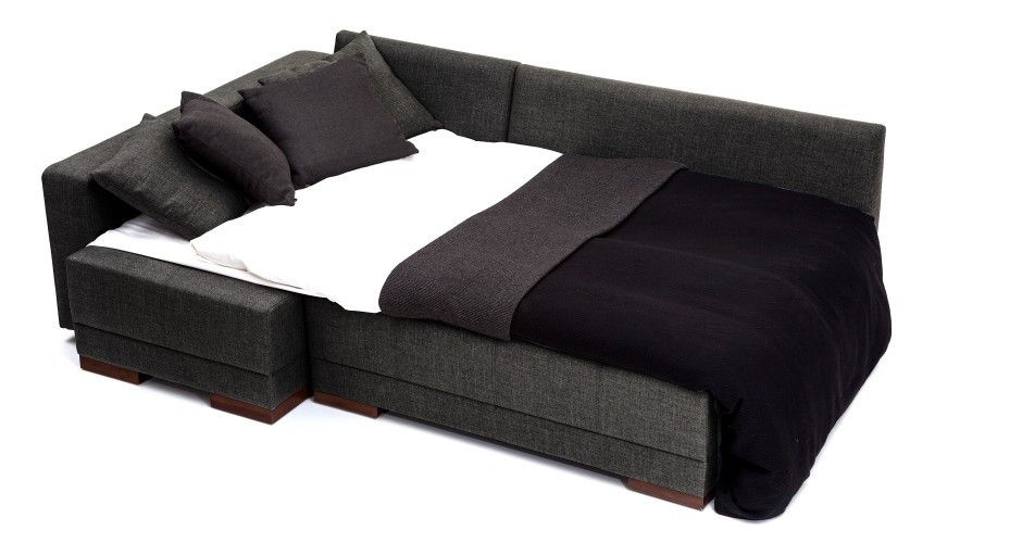 Corner Convertible Sofa Bed - Anthracite(Left) | The Smart Sofa