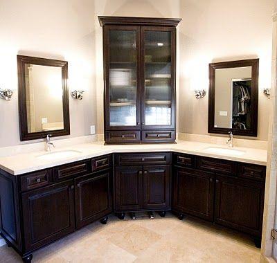 Corner Bathroom Vanity on And The Once Empty Corner Of The Vanity