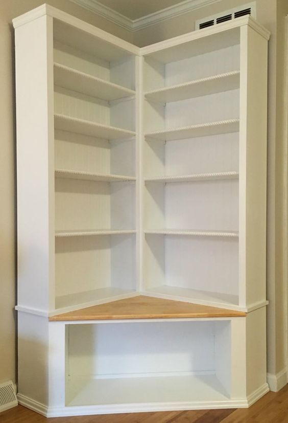 Shabby Chic Corner Bookcase With Seat in 2019 | closet | Pinterest