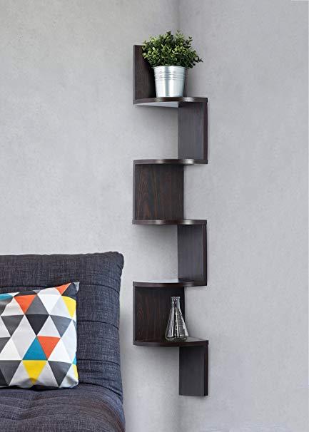 Amazon.com: Corner shelf - Espresso Finish corner shelf unit - 5