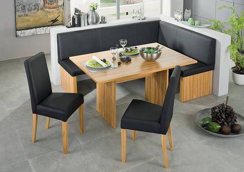 corinna white black Leather dining set kitchen booth breakfast nook