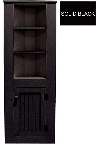 Amazon.com: Sawdust City Ktichen Corner Hutch (Solid - Black): Home