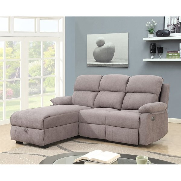 Shop Melody Recliner L-shaped Corner Sectional Sofa with Storage
