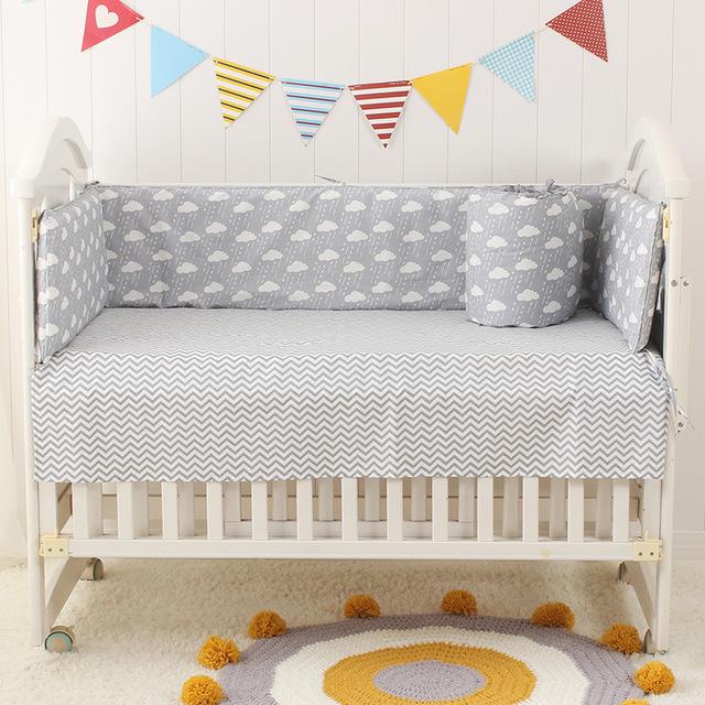 Multi size Infant Baby Crib Cot Bed Linen 100% Cotton Detachable