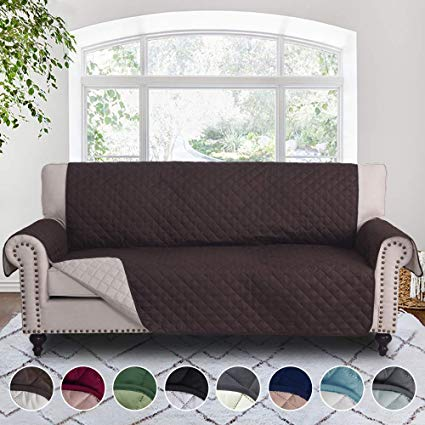 Amazon.com: RHF Reversible Sofa Cover, Couch Covers for 3 Cushion