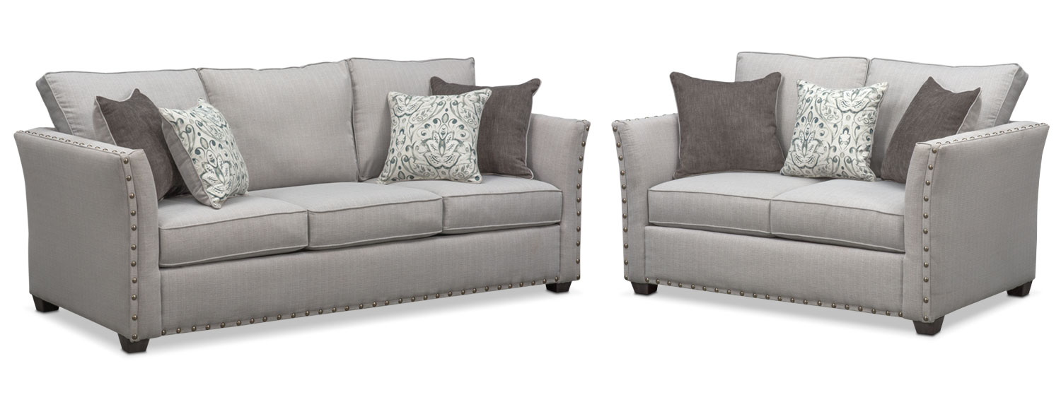 Mckenna Sofa and Loveseat Set | Value City Furniture and Mattresses