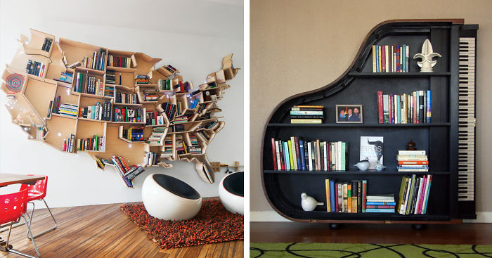 Have Creative Bookshelves For The   Bookworm At Your Home