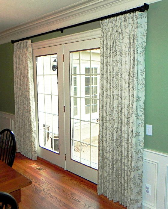 Curtains on french doors | Home Decorating Ideas: Curtain Panels for
