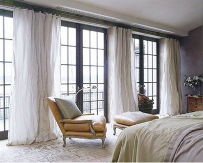 Viola! French Door Curtains! | Curtain-Tracks.com