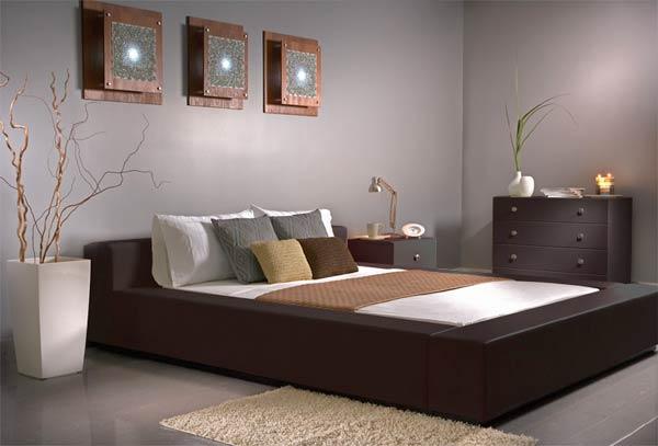 Bedroom Designs: Amazing Dark Wood Bedroom Furniture Gray Wall