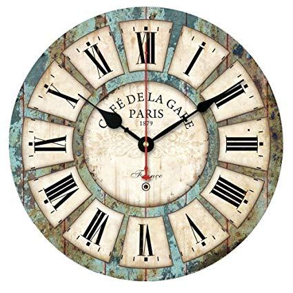 Amazon.com: Sticker Wall Clocks European Style Vintage Creative Big