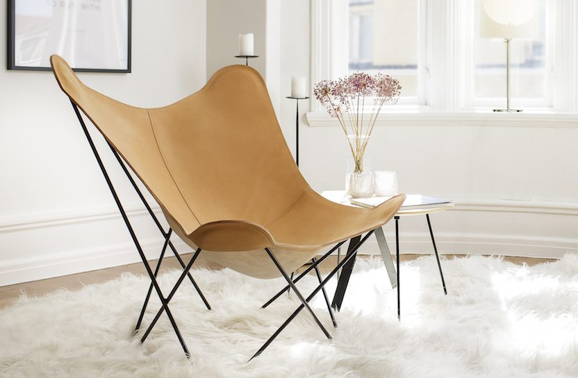 Leather Butterfly Chair - Pampa Mariposa | Cuero Design