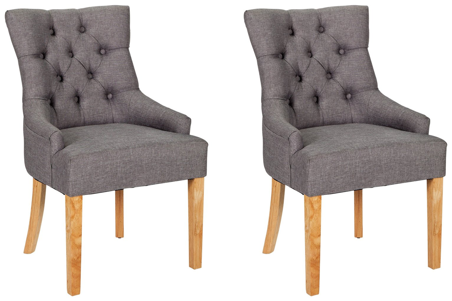 Buy Argos Home Pair of Cherwell Dining Chairs - Charcoal | Dining