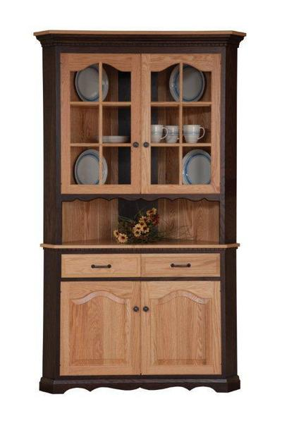 Solid Wood Corner Dining Hutch from DutchCrafters Amish Furniture