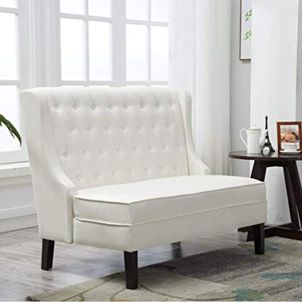 Amazon.com: Andeworld Tufted Loveaseat Settee Sofa Bench for Dining