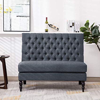 Amazon.com: Andeworld Modern Tufted Button Back Upholstered Settee
