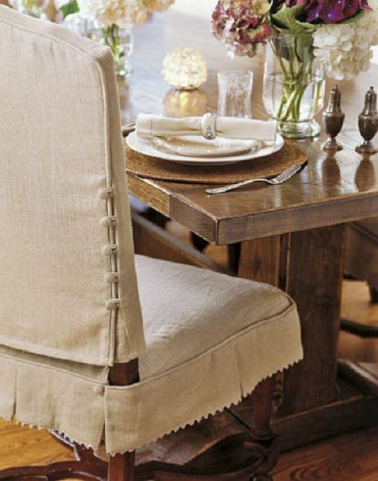 Knowing How to Make Dining Chair Slipcover: Beautiful Dining Room