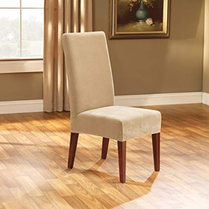 Amazon.com: SureFit Stretch Pique - Shorty Dining Room Chair