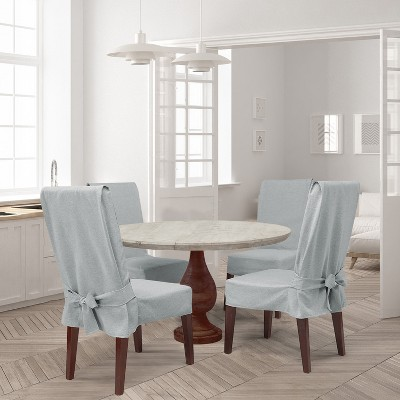 Farmhouse Basketweave Dining Room Chair Slipcover : Target