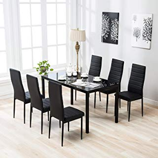 Amazon.com: 7 Pieces - Table & Chair Sets / Kitchen & Dining Room
