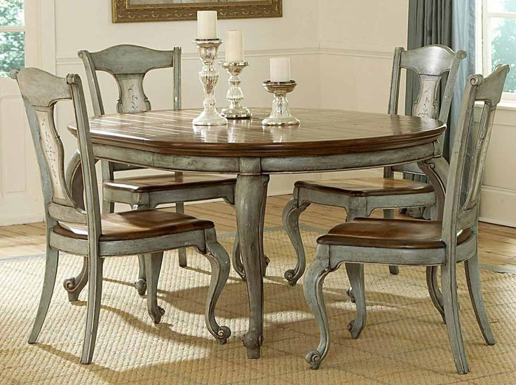 Paint a formal dining room table and chairs - Bing Images | Around