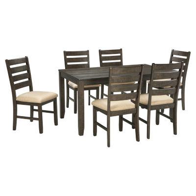 Signature Design by Ashley® Linwood 7-Piece Rectangular Dining Set