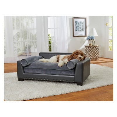 Enchanted Home Pet Skylar Dog Sofa - Dark Grey : Target
