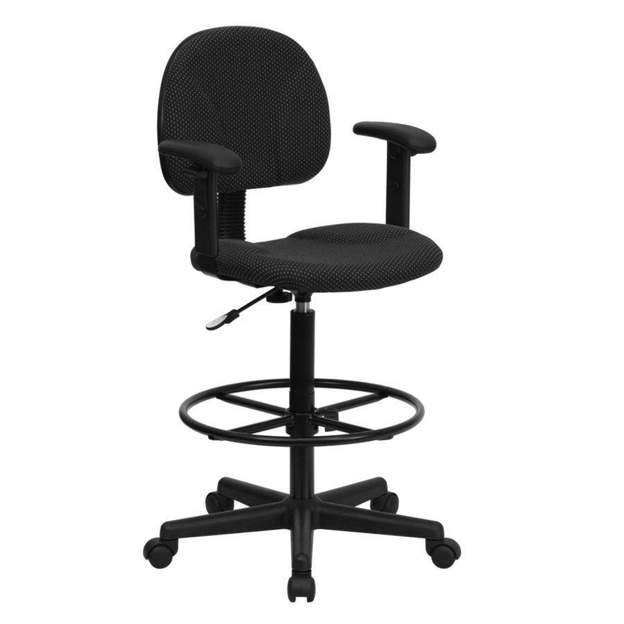 Flash Furniture Ergonomic Drafting Chair Black - Office Depot