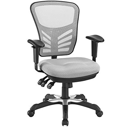 Amazon.com: Modway Articulate Ergonomic Mesh Office Chair in Gray