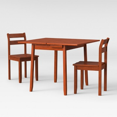 3pc Expandable Dining Set With Storage - Chestnut - Threshold™ : Target