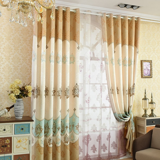 Elegant modern home decoration exquisite curtain printing curtains