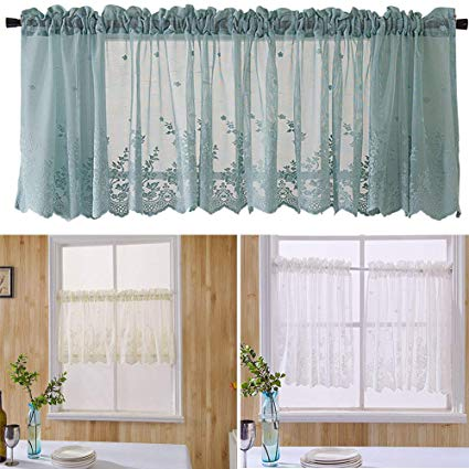 Amazon.com: Onner White Lace Short Curtain, Elegant Lace Exquisite