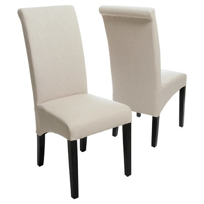 Morgan Fabric Dining Chairs - Scroll Pattern (Set Of 2