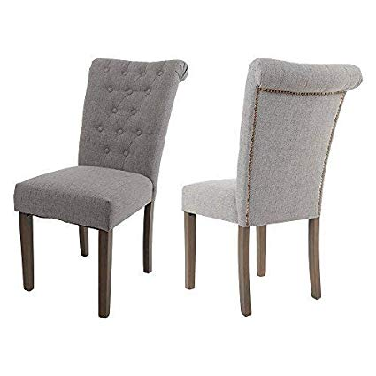 Amazon.com - Merax WF015974EAA Fabric Dining Chairs with Solid Wood