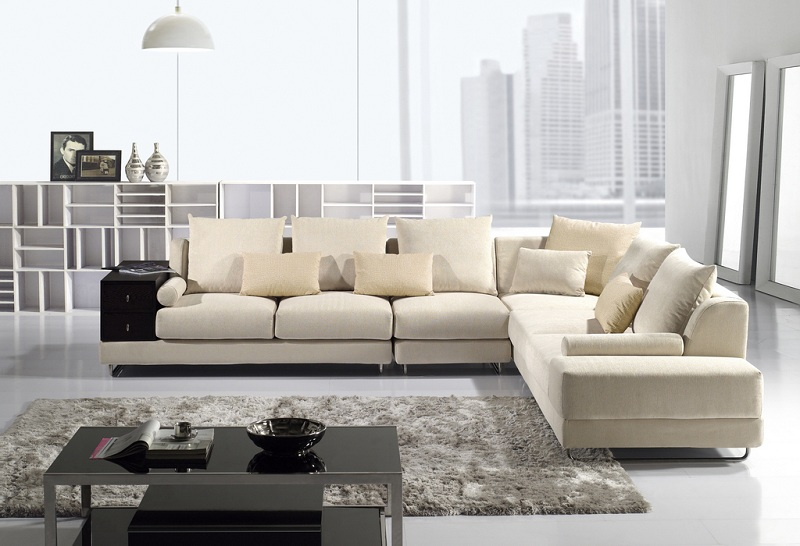 Modern Cream Fabric Sectional Sofa - Shop for Affordable Home