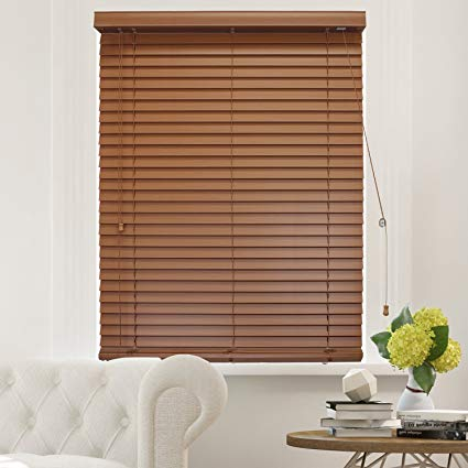 Amazon.com: CHICOLOGY Faux Wood Blinds 2-Inch Horizontal Venetian