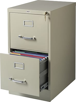 Staples 2-Drawer Letter Size Vertical File Cabinet, Putty (22-Inch