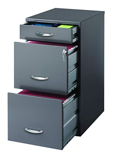 Amazon.com: Hirsh SOHO 3 Drawer File Cabinet in Charcoal: Home & Kitchen