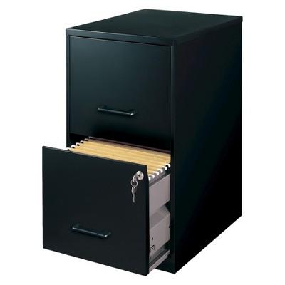 HIRSH Black Vertical 2-Drawer Filing Cabinet Metal : Target