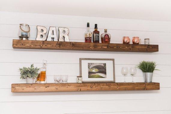 LONG Floating Shelf 5458 Farmhouse Shelves XL | Etsy