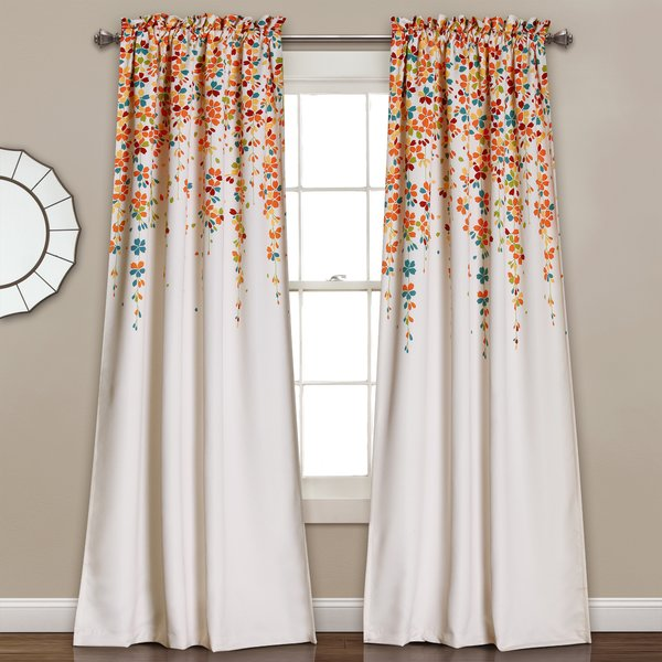 Latitude Run Cumberland Floral/Flower Room Darkening Thermal Rod