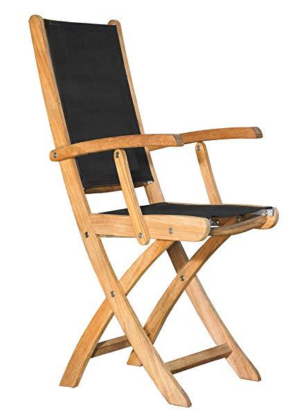 Amazon.com: Three Birds Casual Riviera Folding Armchair, Black: Home